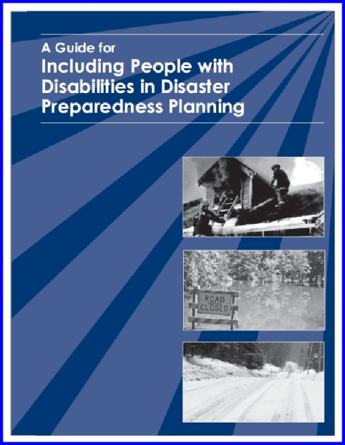 including people with disabiliities in disaster preparedness planning